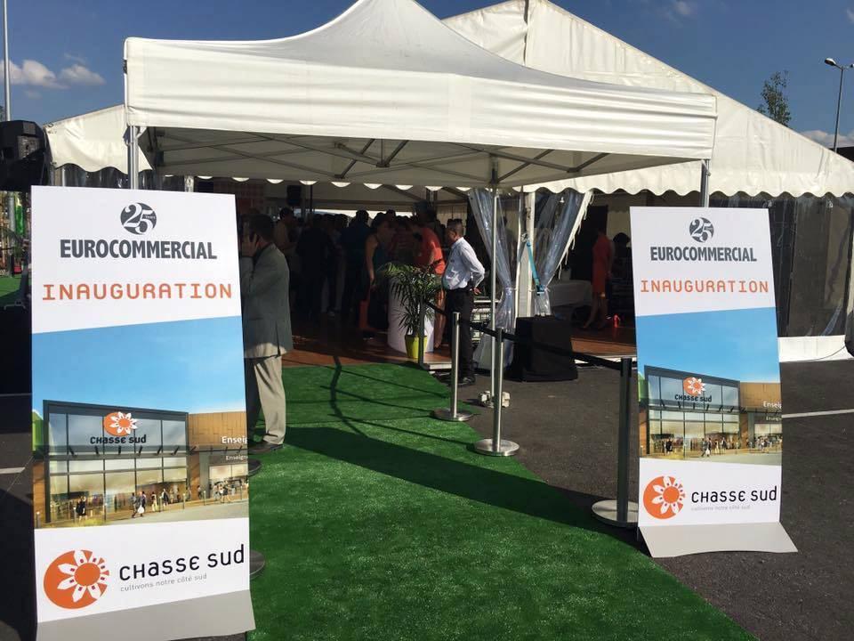 Tente parapluie inauguration Chasse Sud Lyon
